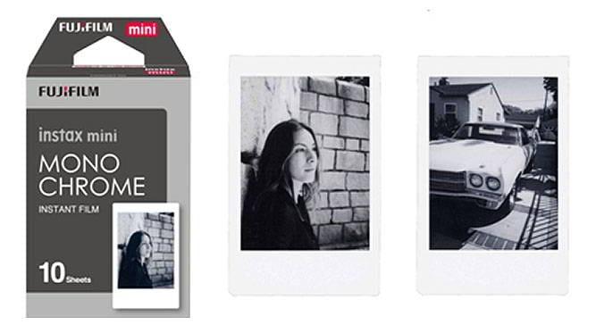 INSTAX Instant Film MINI MONOCHROME 10 fogli