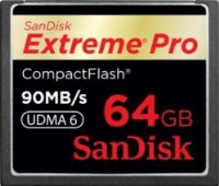 Compact Flash Extreme Pro 64GB (90MB/s lettura-scrittura)