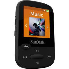 Lettore MP3 Sansa Clip Sports 4GB Nero con radio