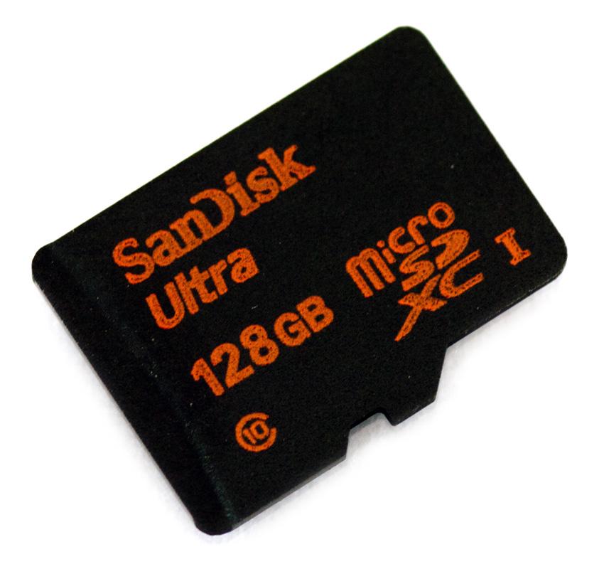 Micro SD Ultra 128GB XC + adattatore SD (80MB/s lettura)