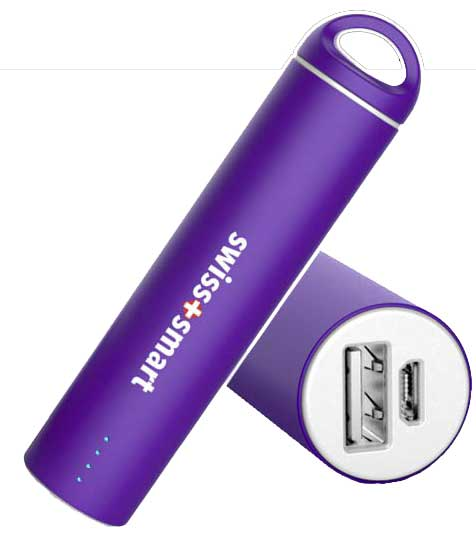 SWISS PRO POWER BANK 2600 MAH viola