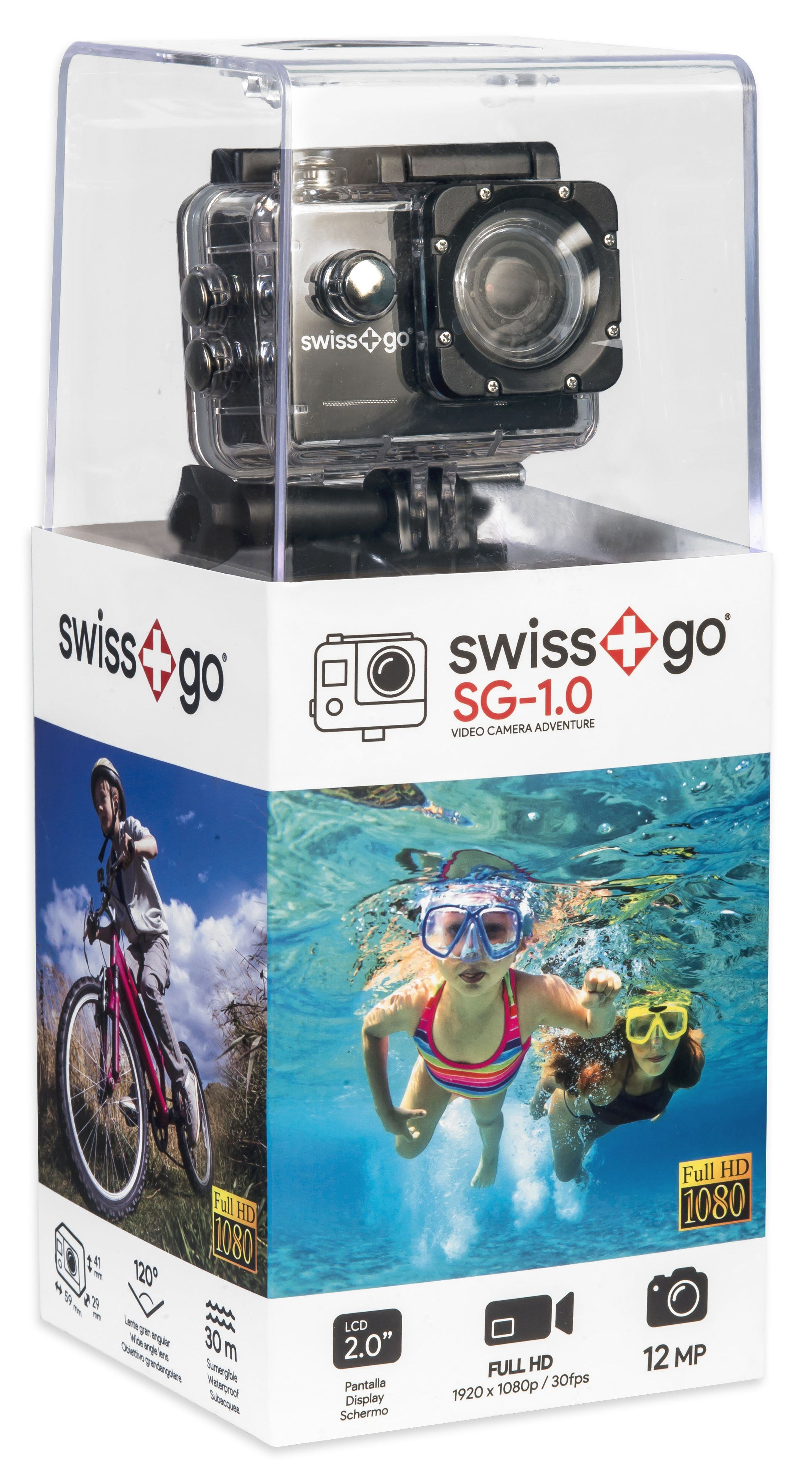 SWISS GO SG-1.8W 12MP WiFi FULL HD ACTION CAMERA NERA