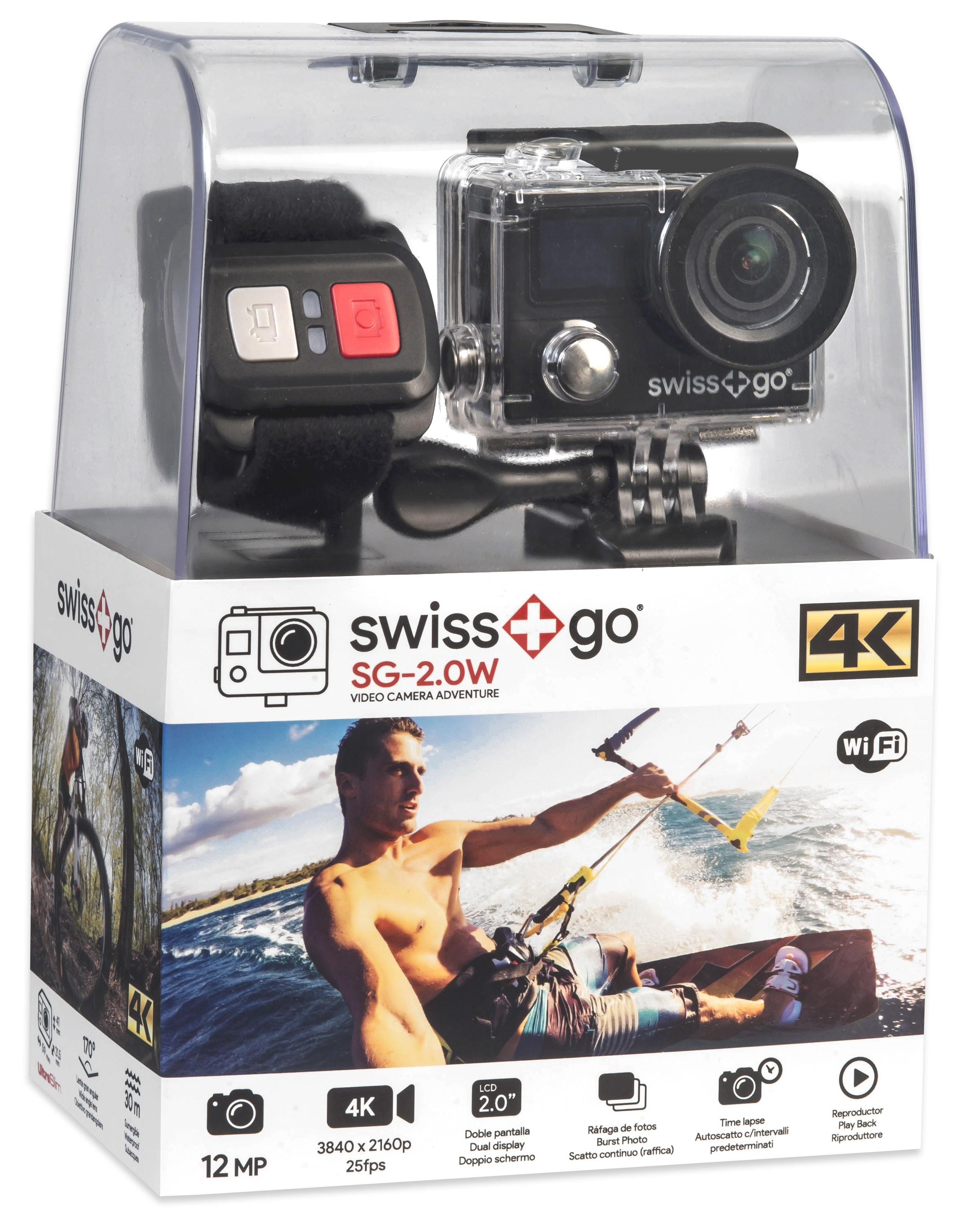 SWISS GO SG-4.0W 14MP WiFi ULTRA HD/4K ACTION CAMERA