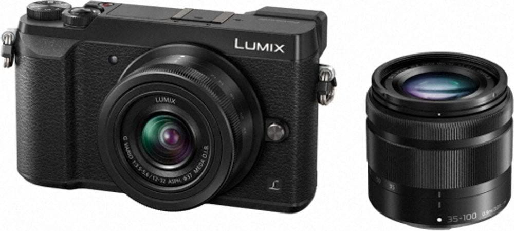 LUMIX GX80 BLACK 12-32 + 35-100
