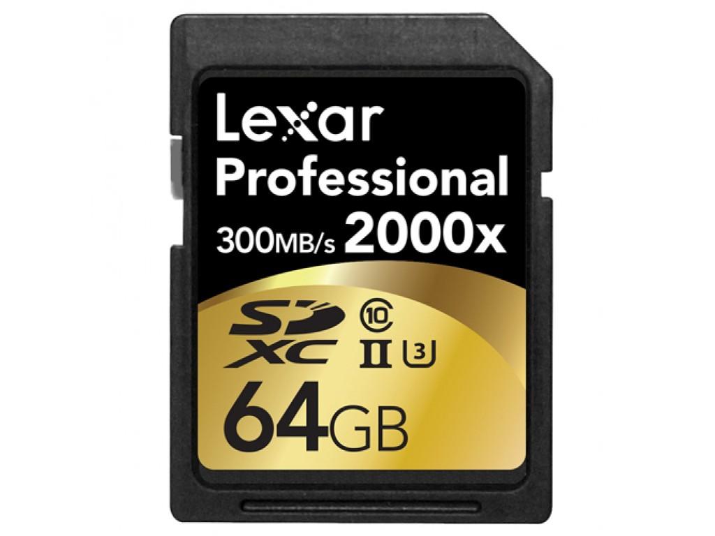 64GB 2000x PRO SDXC RDR UII