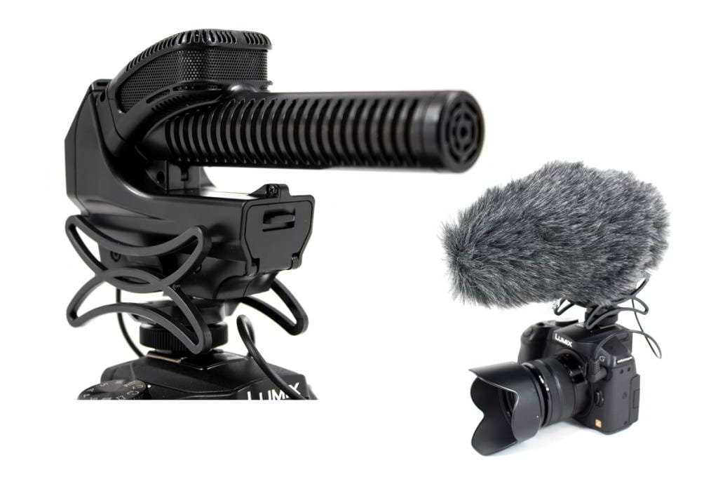AZDEN SMX-30 Microfono stereo-mono selezionabile, spinotto Jack tipo TRS da 3,5mm, booster + 20 dB. Supporto anti-shock integrato. Fornito con spugnetta antivento e custodia per il trasporto.