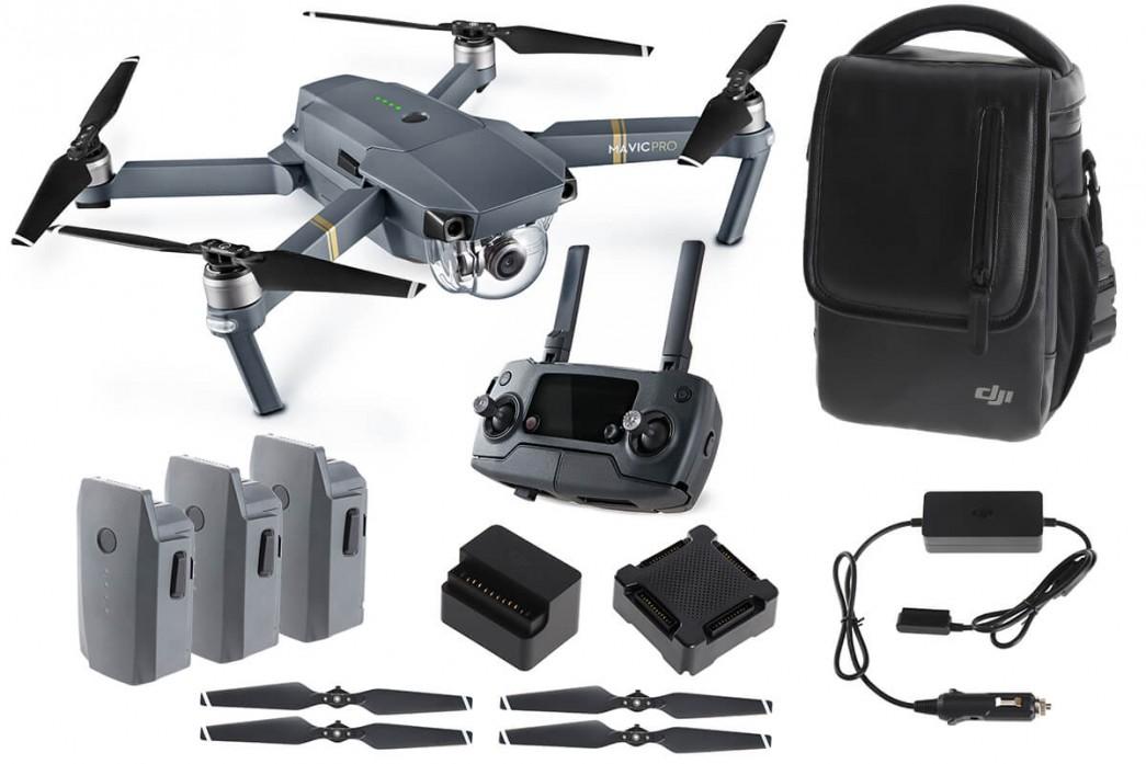 DJI MAVIC PRO FLY MORE COMBO, Drone(2x batterie, Borsa tracolla, Caricabatterie, Eliche di ricambio)