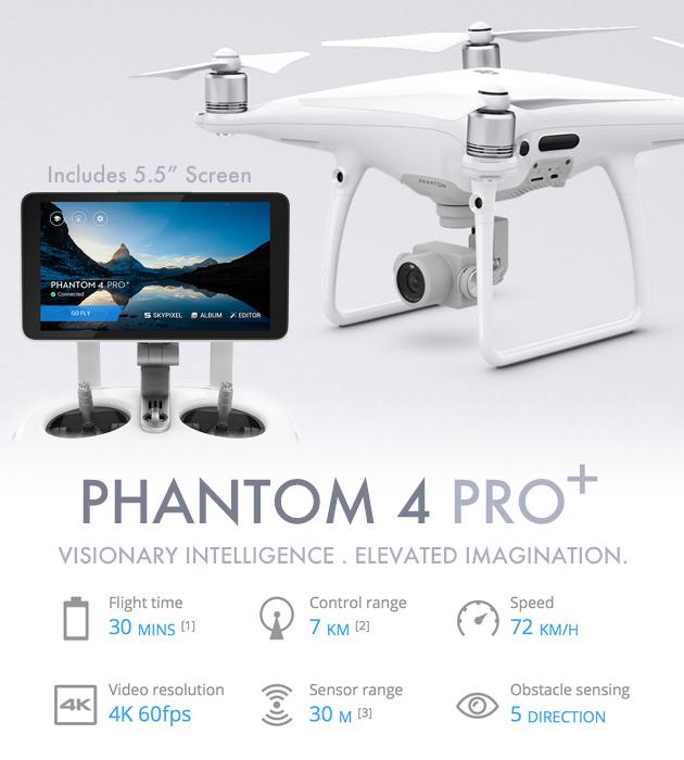 DJI PHANTOM 4 PRO+, Drone