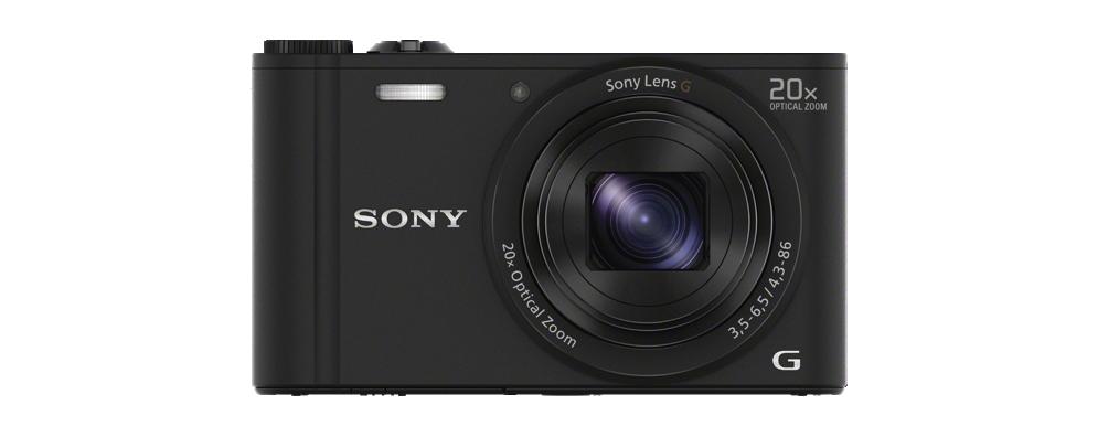 DSC-WX350 Black Fotocamera compatta con zoom ottico 20x
