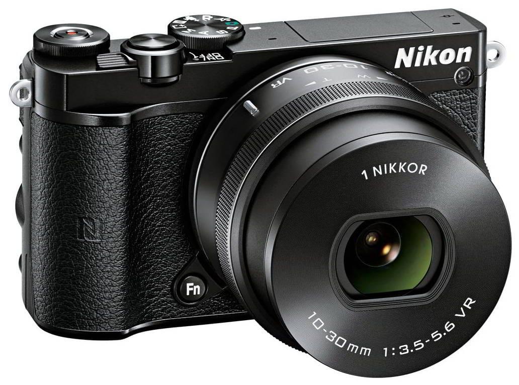 NIKON 1 J5 BLACK + 1 NIKKOR 10-30mm + LEXAR micro SD 300x 16 GB - BLACK