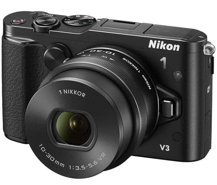 NIKON 1 V3 + 10-30mm BLACK + micro SD 300x 16 GB