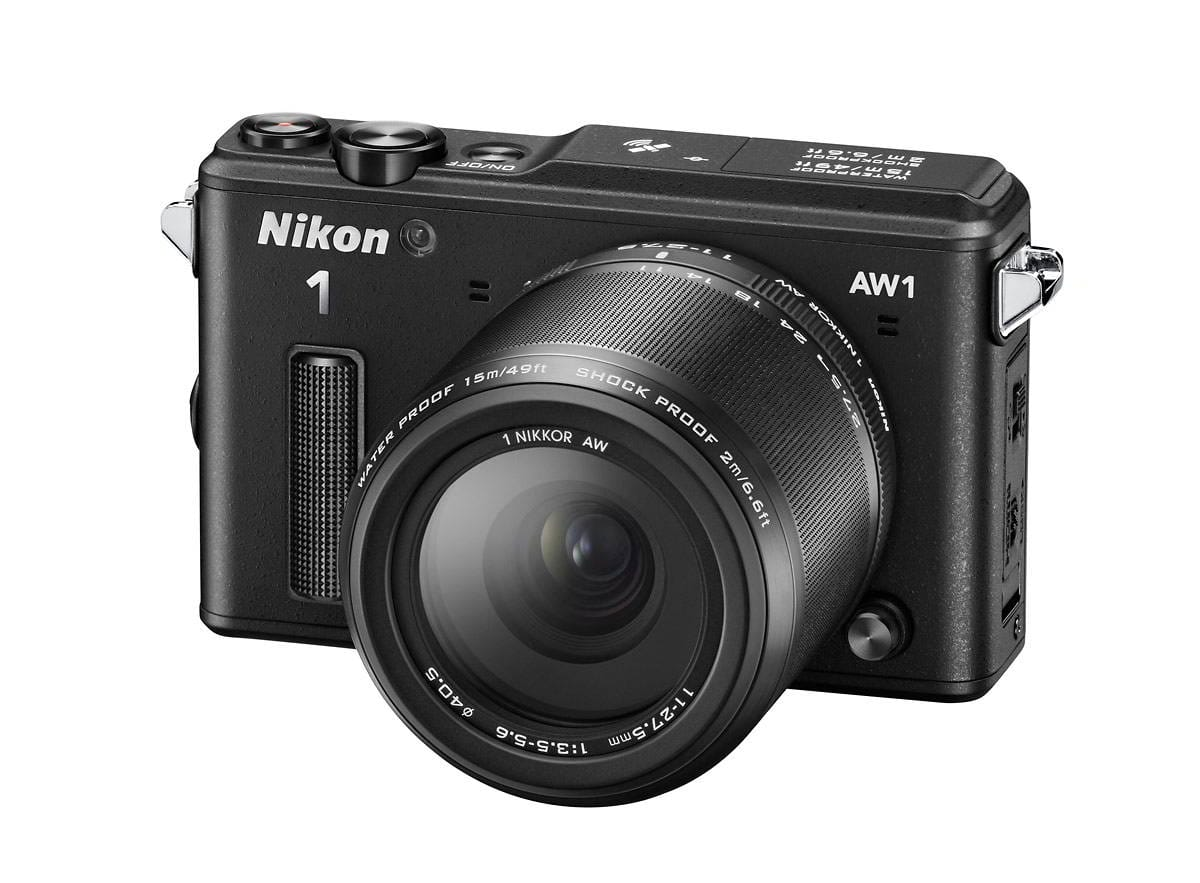 NIKON 1 AW1 black + 1 Nikkor 11-27,5 mm + LEXAR SD 400x 8GB