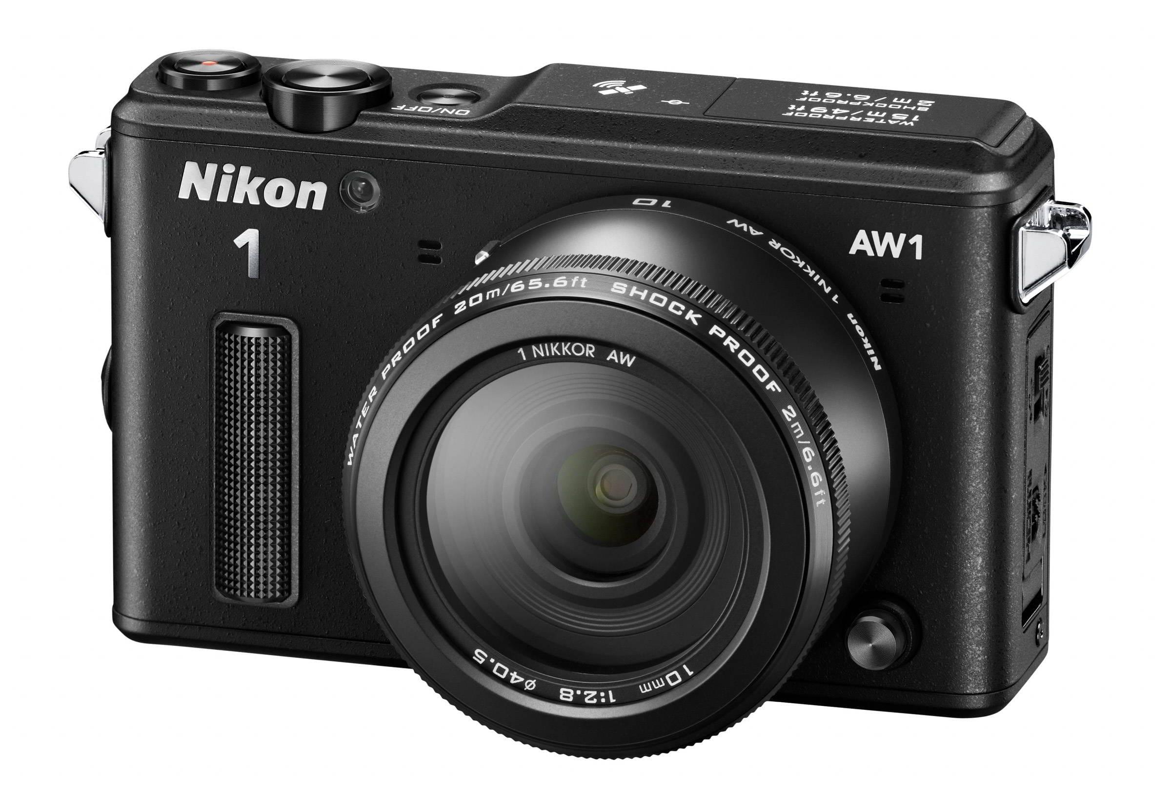 NIKON 1 AW1 black + 1 Nikkor 10 mm + 1 Nikkor 11-27,5 mm + LEXAR SD 400x 8GB