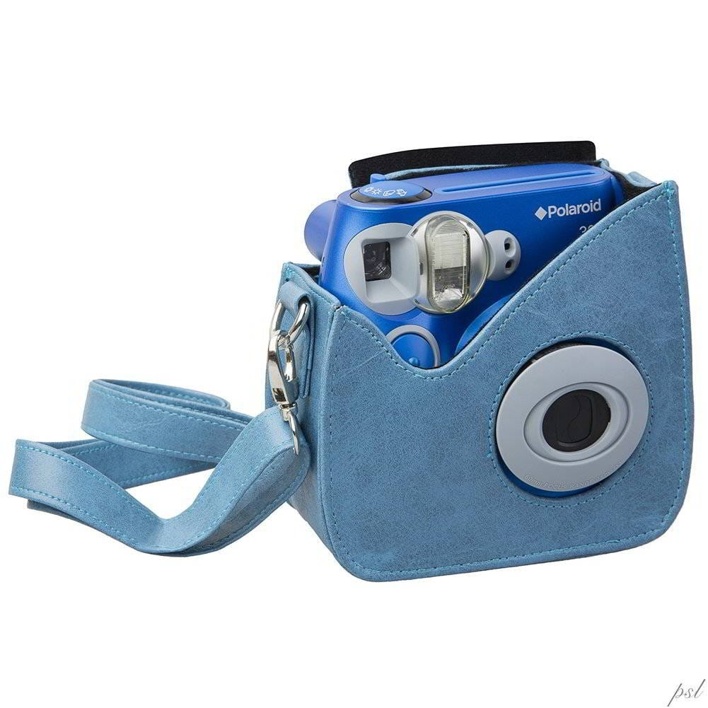 POLAROID POIC300 FAUX LEAT.CARRY CASE BLUE