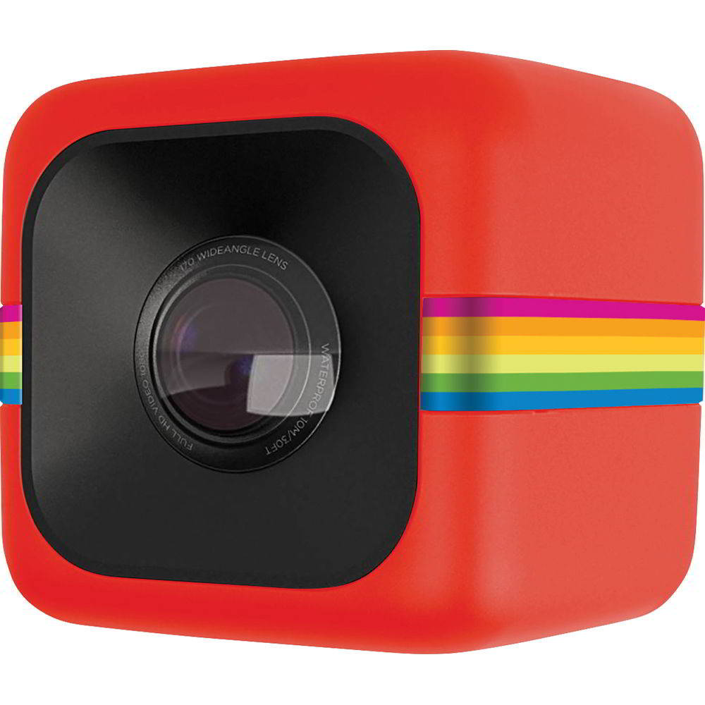 POLAROID CAMERA CUBE RED