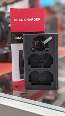 Caricabatterie doppio Fujifilm NP-W235 (caricabatterie compatibile x-t4)