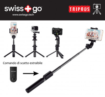 SWISS-GO SELFIE TREPPIEDE BLUETOOTH VIP-01
