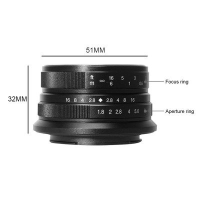 7ARTISANS 25mm f/1.8 x Sony E
