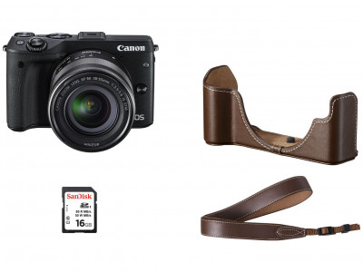 EOS M3 + EF-M 18-55mm PREMIUM ACCESSORY KIT (Gift Card euro 50,00)