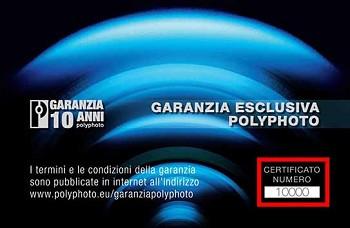 GARANZIA 10 ANNI POLYPHOTO TAMRON