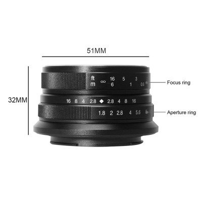 7ARTISANS 25mm f/1.8 per Fuji SILVER