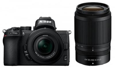 Z50 + Z DX 16-50 VR + Z DX 50-250 VR + SD 64GB