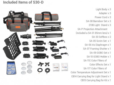 KIT ILLUMINATORE LED SA-D CON 3 S30 E ACCESSORI
