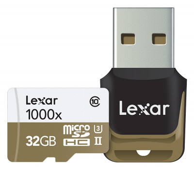 32 GB microSDHC UHS-II 1000x w/Reader