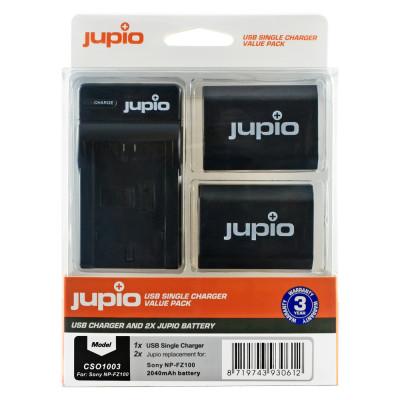 JUPIO CARICABATTERIA CSO1003V2 USB SINGOLO +2X NP-FZ100 2040MAH SONY