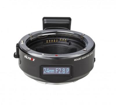 Adattatore Auto focus PER OTTICHE CANON EF/EF-S SU SONY E-MOUNT con display OLED