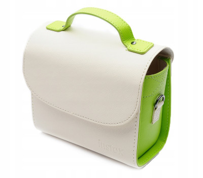 BORSA IN PELLE  LIME GREEN PER INSTAX MINI 8, 9, 11, sq6, sq20