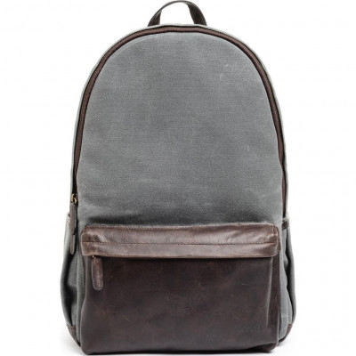 CLIFTON BACKPACK SMOKE WAXED CANVAS