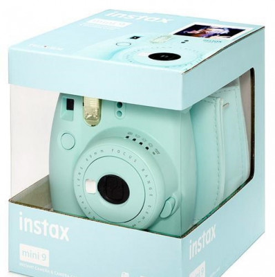 FUJI INSTAX MINI 9 +10 FOTO+BORSA - ICE BLUE