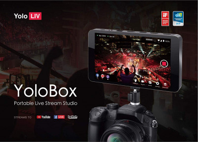 "YoloBox Livestream device 7"" touch screen"