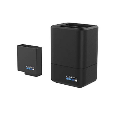 DUAL BATTERY CHARGER + BATTERY (HERO7/6/5 BLACK)