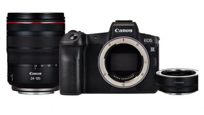 EOS R + RF24-105mm f/4 L IS USM  + adattatore EF-EOS