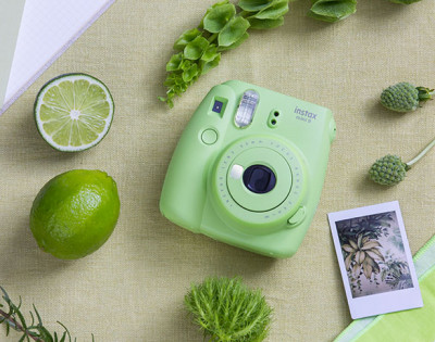 FUJI INSTAX MINI 9 +10 FOTO+BORSA - LIME GREEN