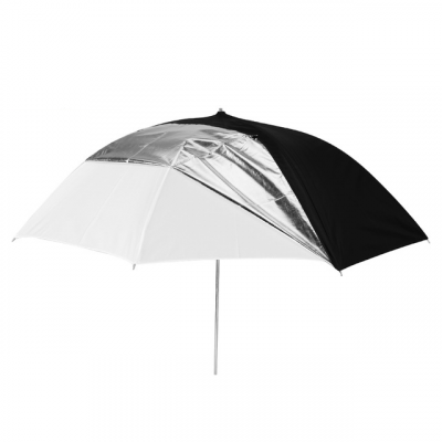 Ombrello UB-006 – Bianco/Argento/Nero 84cm