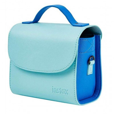 BORSA IN PELLE ICE BLU PER INSTAX MINI 8, 9, 11, SQ6, SQ20