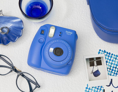 FUJI INSTAX MINI 9 +10 FOTO+BORSA - COBALT BLUE