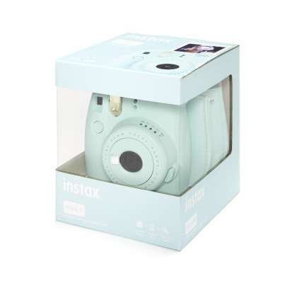 INSTAX MINI 9 +10 FOTO+BORSA - ICE BLUE