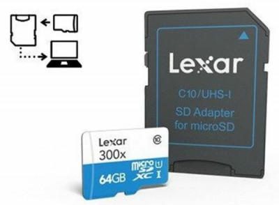 64 GB microSDXC 300X CL.10 + ADAPTER