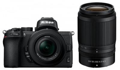 Z50 + NIKKOR Z DX 16-50 VR + 50-250 VR + SD 16GB + Borsa Nikon CF-EU14