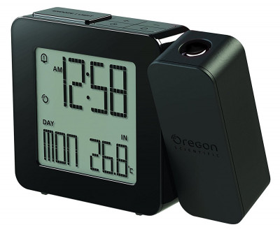 Oregon Scientific RM-338-P - Reloj proyector con Temperatura Interior, Color Black
