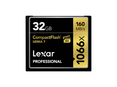 Professional 32GB 1066x Compact Flash