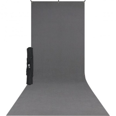 X-Drop backdrop kit - fondale in tessuto NEUTRAL GRAY 1,50 x 3,60m completo di supporto
