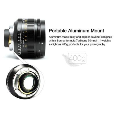 7ARTISANS 50mm f/1.1 x Leica M BLACK