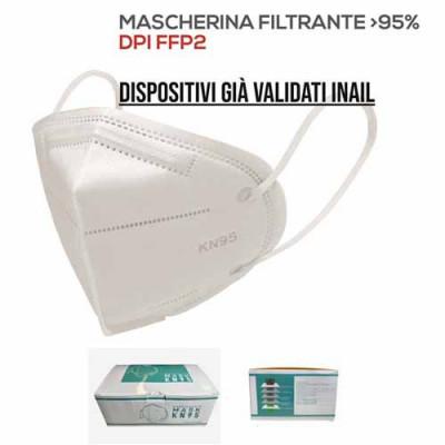 MASCHERINA FFP2 5 STRATI VALIDITA' INAIL PZ 40